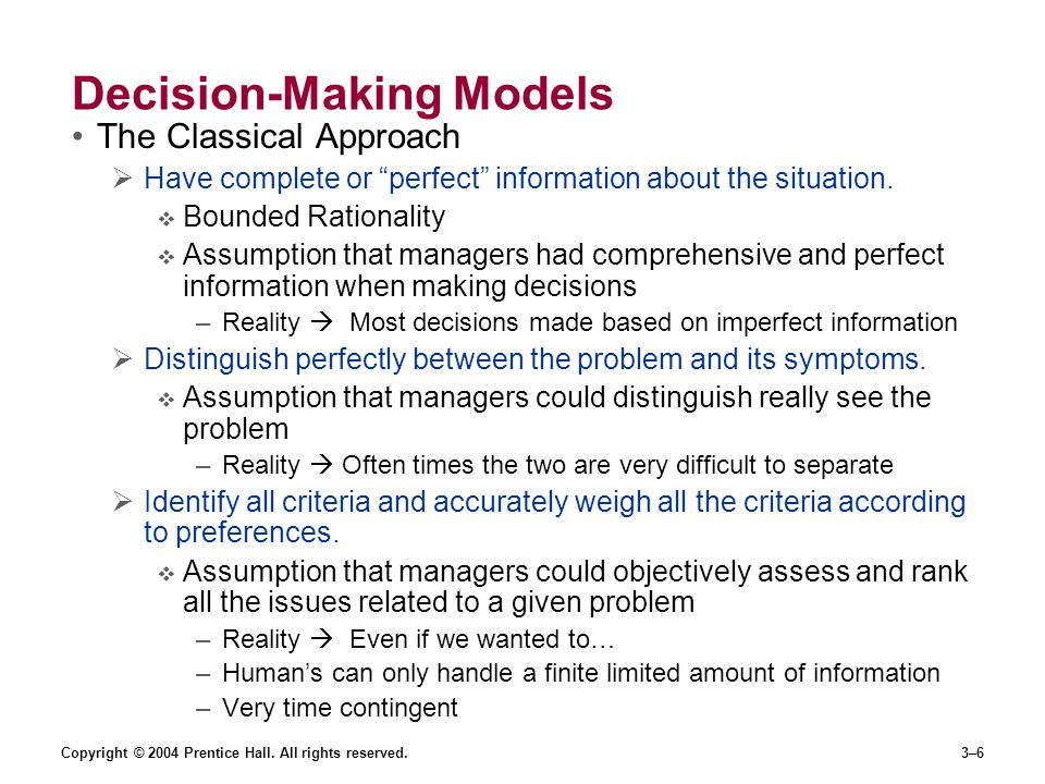Decision-Making Models