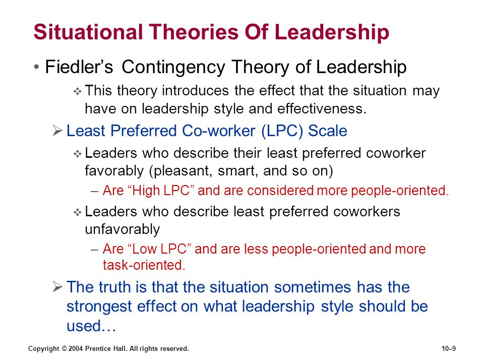 Situational Theories Of Leadership