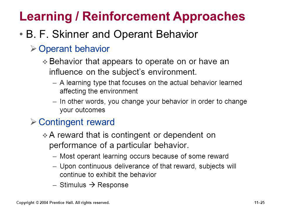 Learning / Reinforcement Approaches