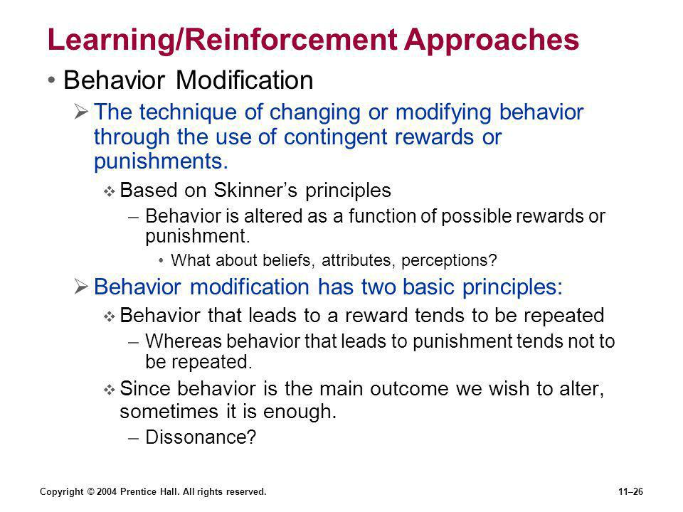 Learning/Reinforcement Approaches