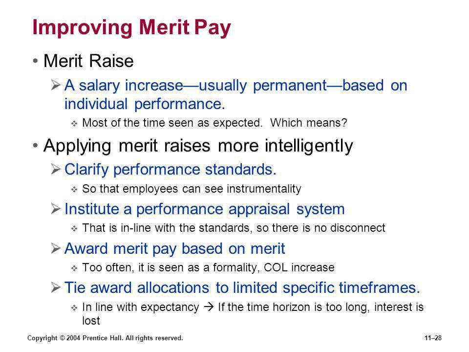 Improving Merit Pay Merit Raise