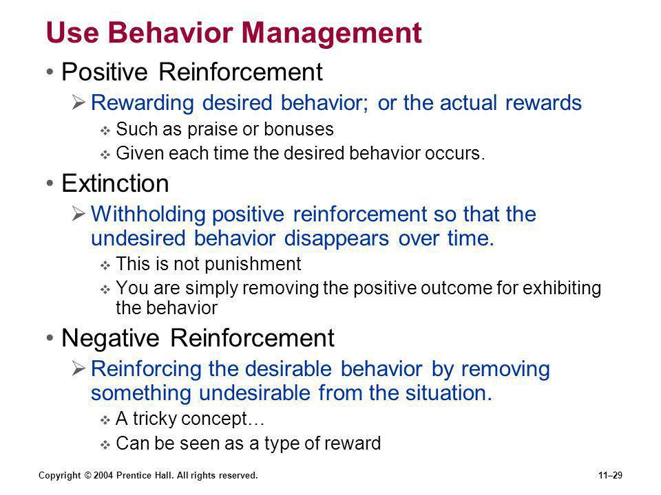 Use Behavior Management