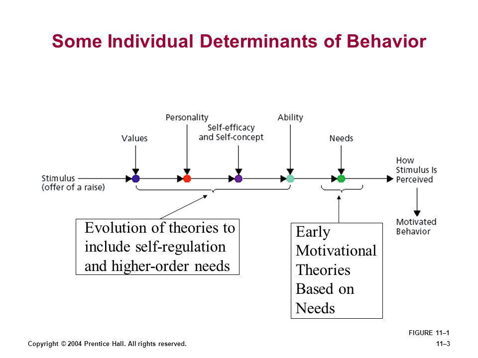 Some Individual Determinants of Behavior