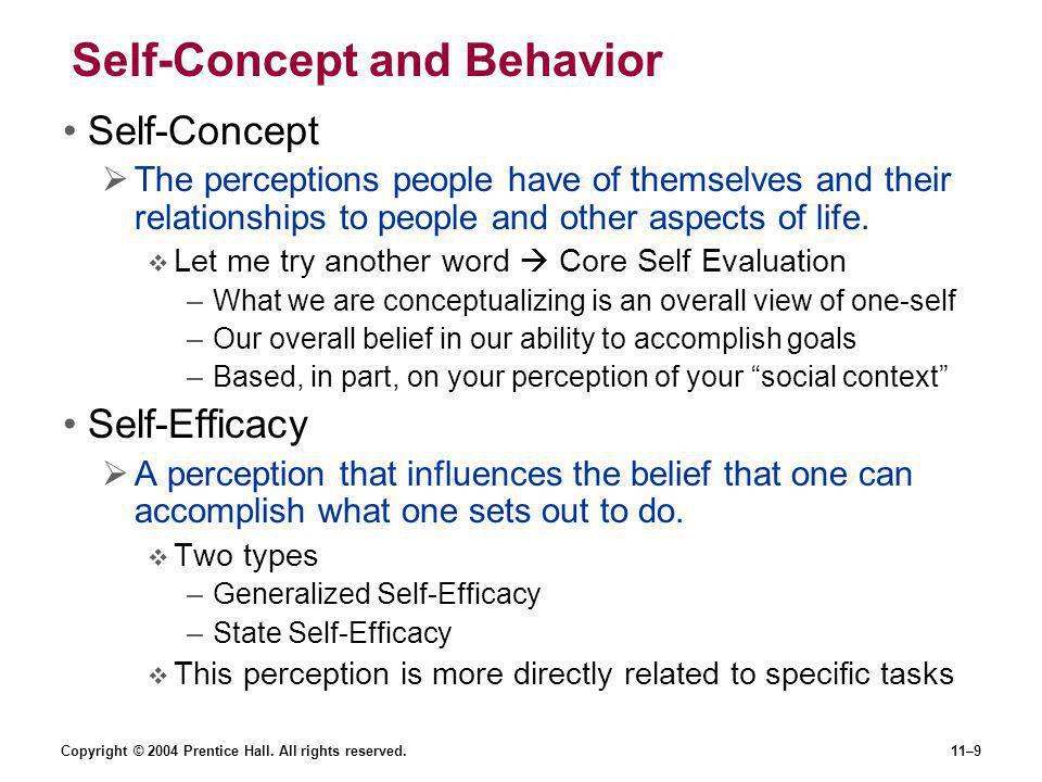 Self-Concept and Behavior