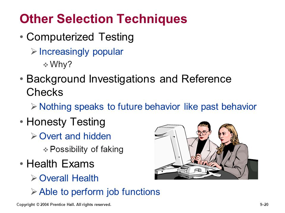 Other Selection Techniques