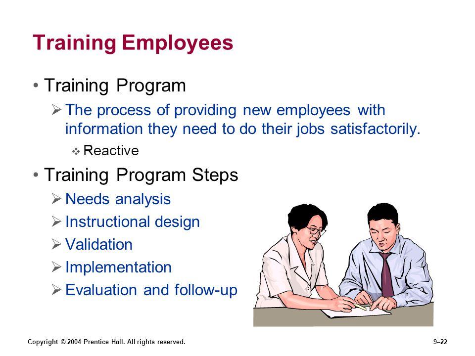 Training Employees Training Program Training Program Steps