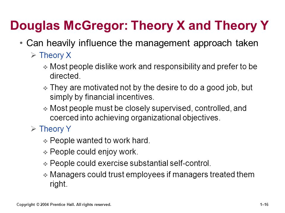 Douglas McGregor: Theory X and Theory Y