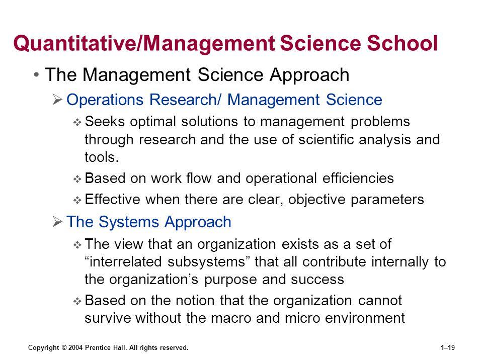 Quantitative/Management Science School