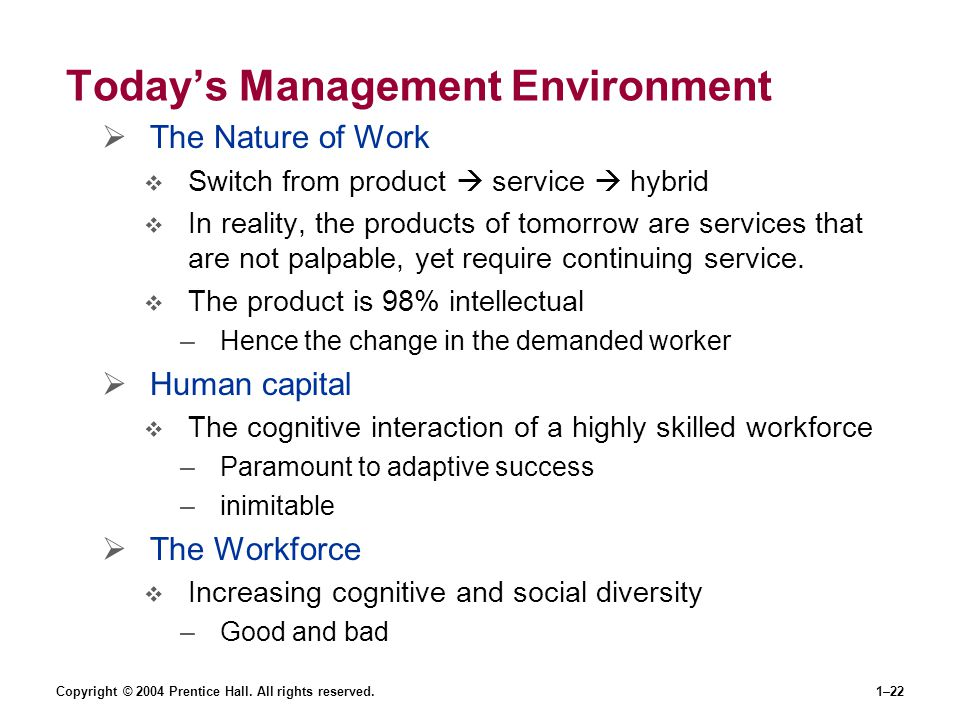 Today's Management Environment