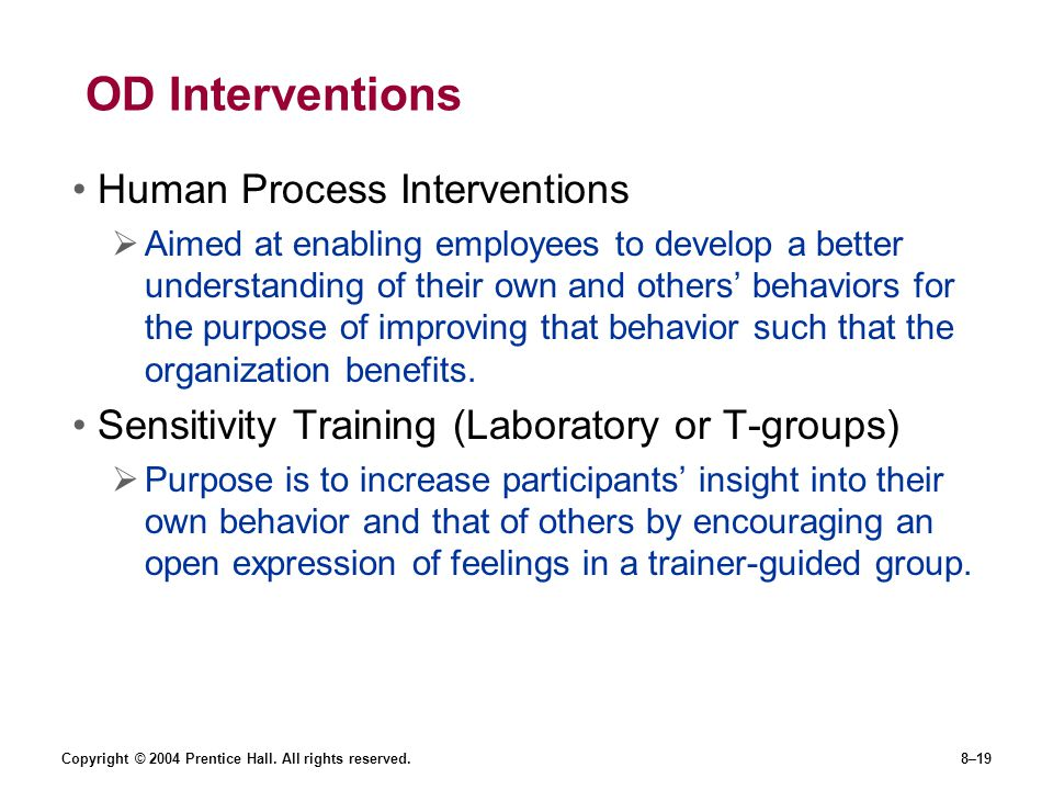 OD Interventions Human Process Interventions