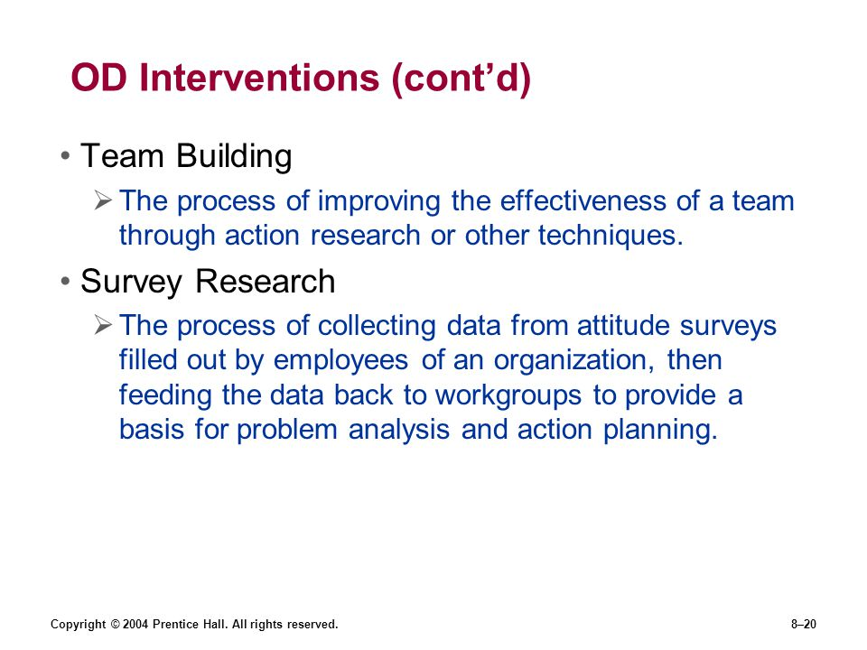 OD Interventions (cont'd)