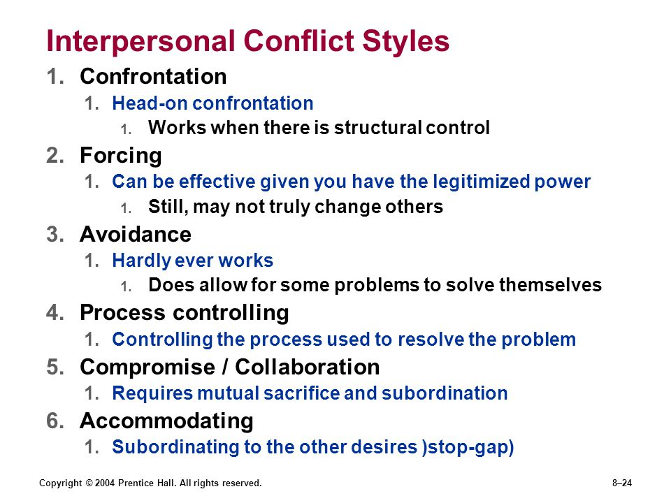 Interpersonal Conflict Styles