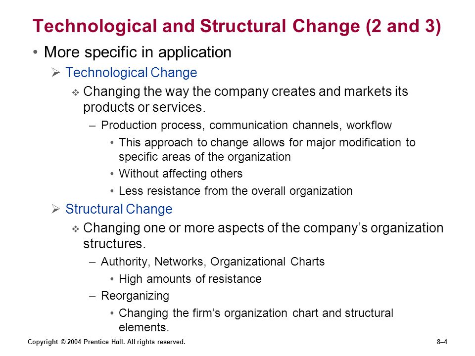Technological and Structural Change (2 and 3)