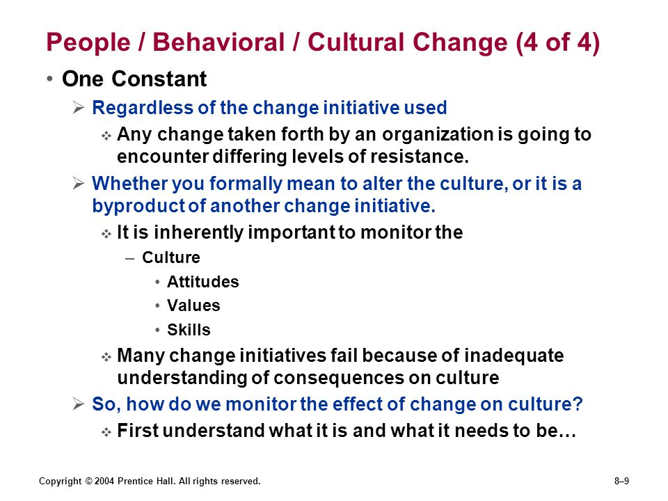 People / Behavioral / Cultural Change (4 of 4)