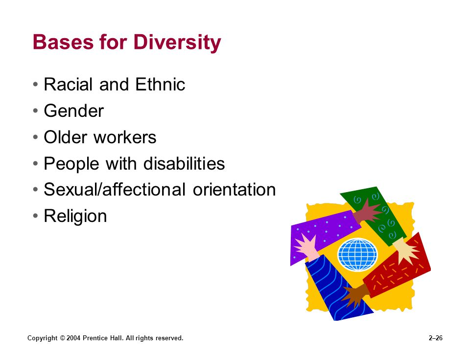 Bases for Diversity Racial and Ethnic Gender Older workers