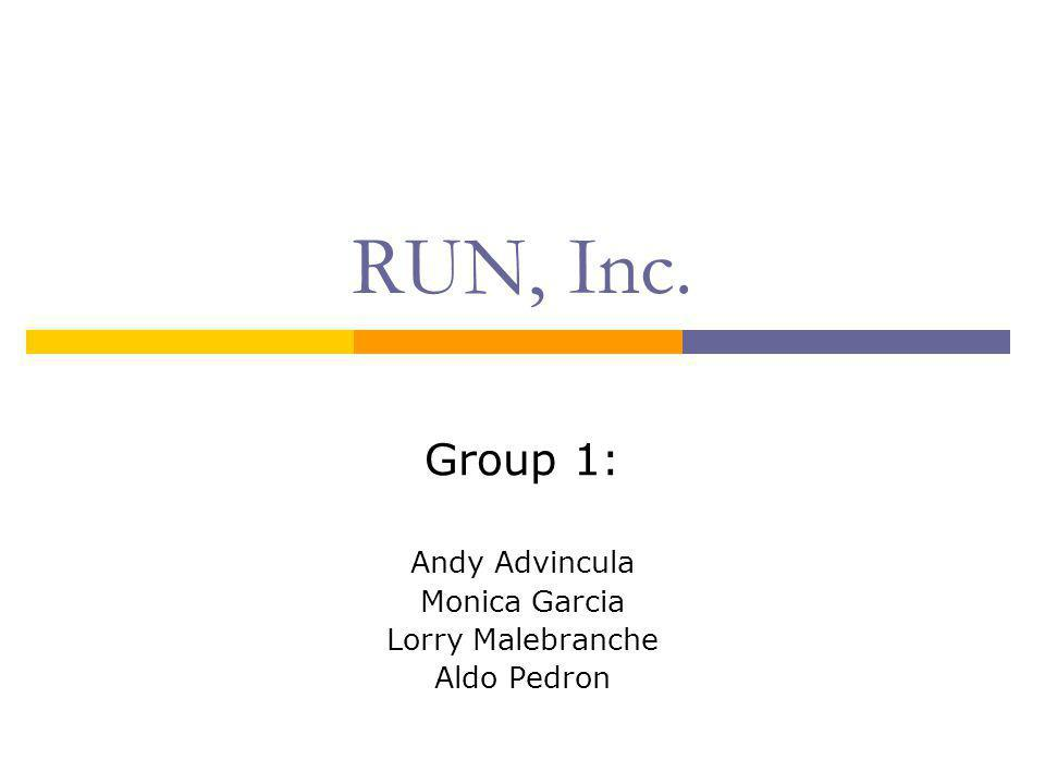 Group 1: Andy Advincula Monica Garcia Lorry Malebranche Aldo Pedron