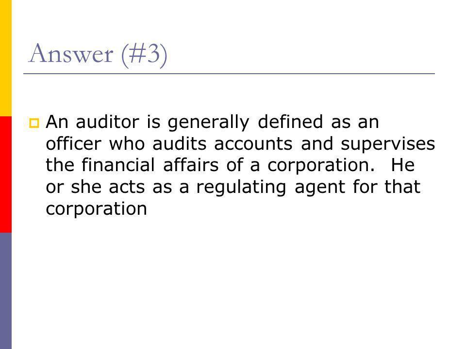 Answer (#3)