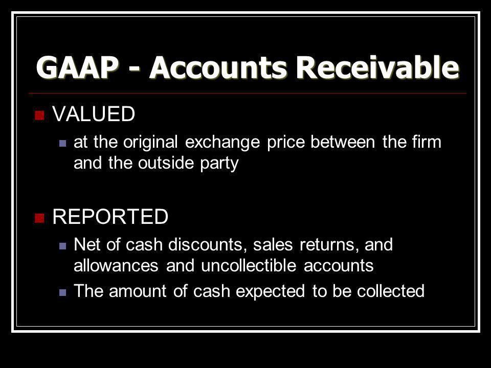 GAAP - Accounts Receivable
