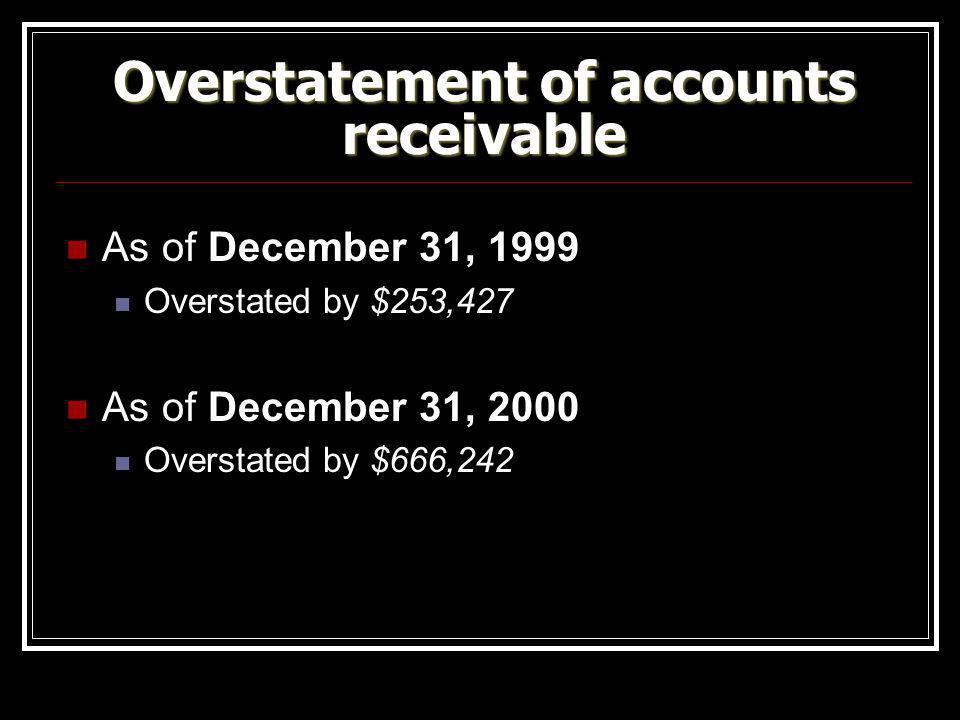 Overstatement of accounts receivable