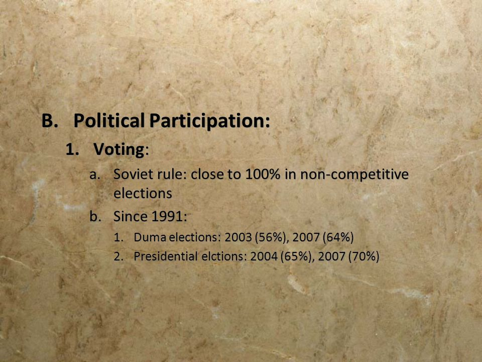 Political Participation: