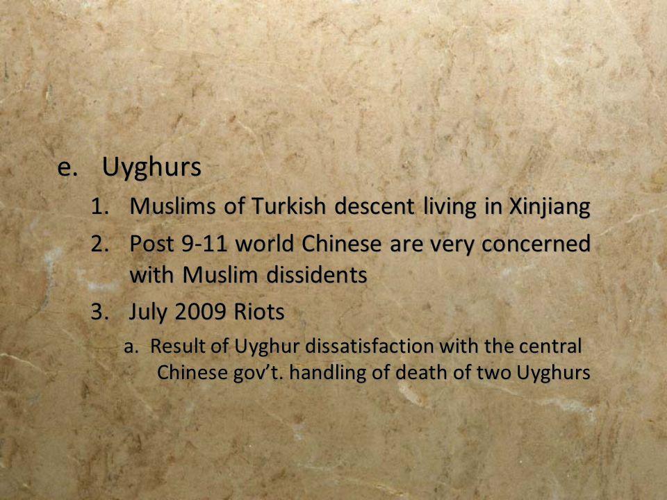 Uyghurs Muslims of Turkish descent living in Xinjiang