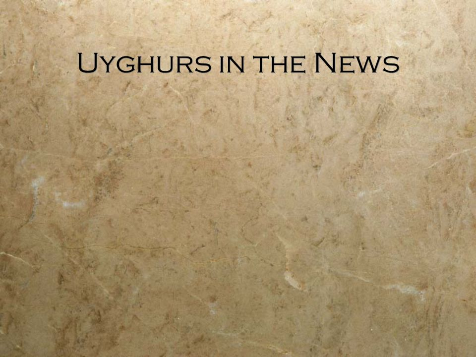Uyghurs in the News
