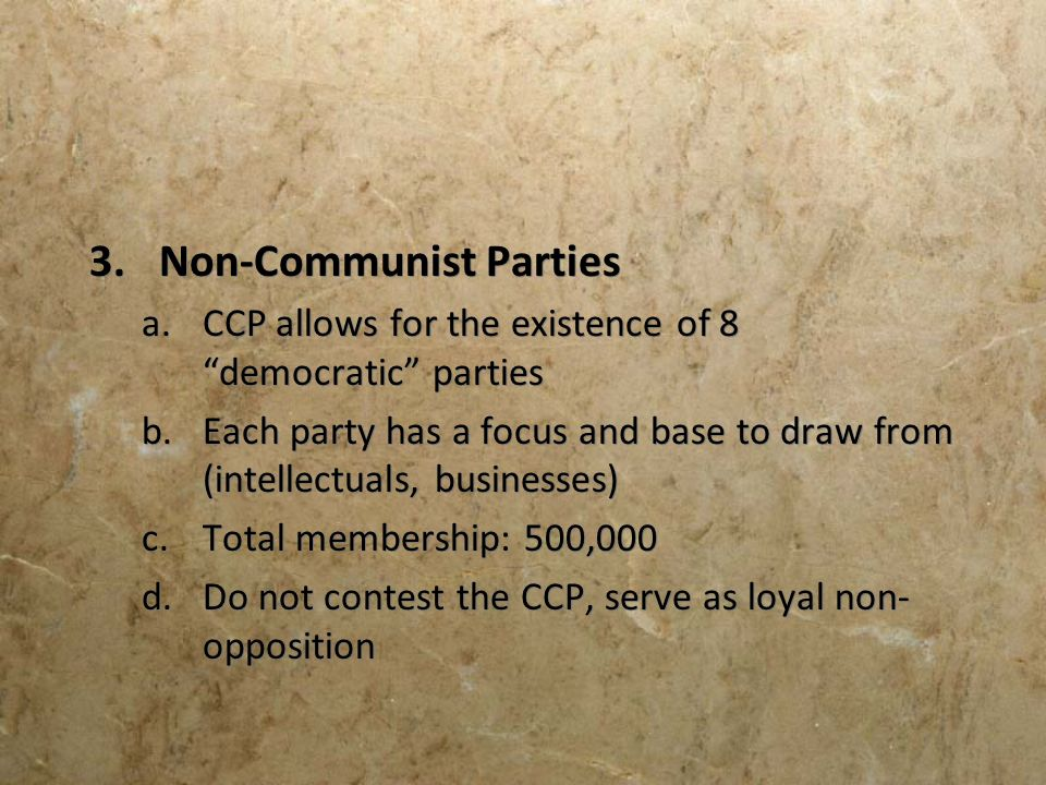 Non-Communist Parties