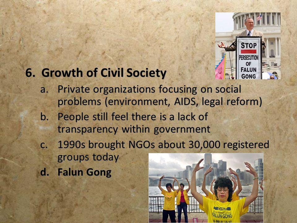 6. Growth of Civil Society