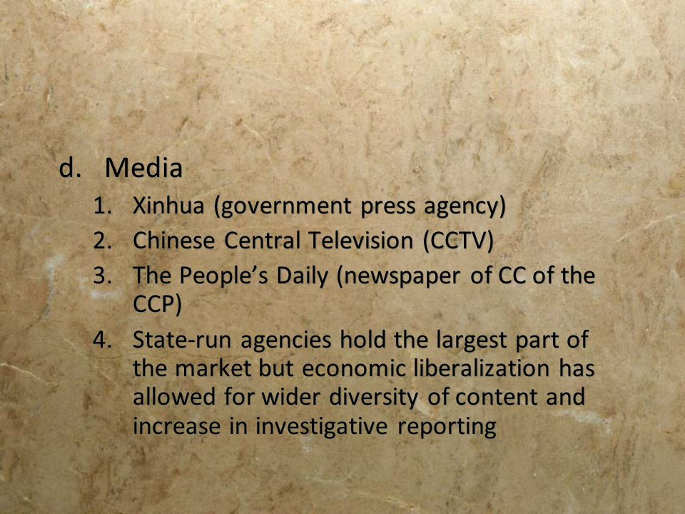 Media Xinhua (government press agency)