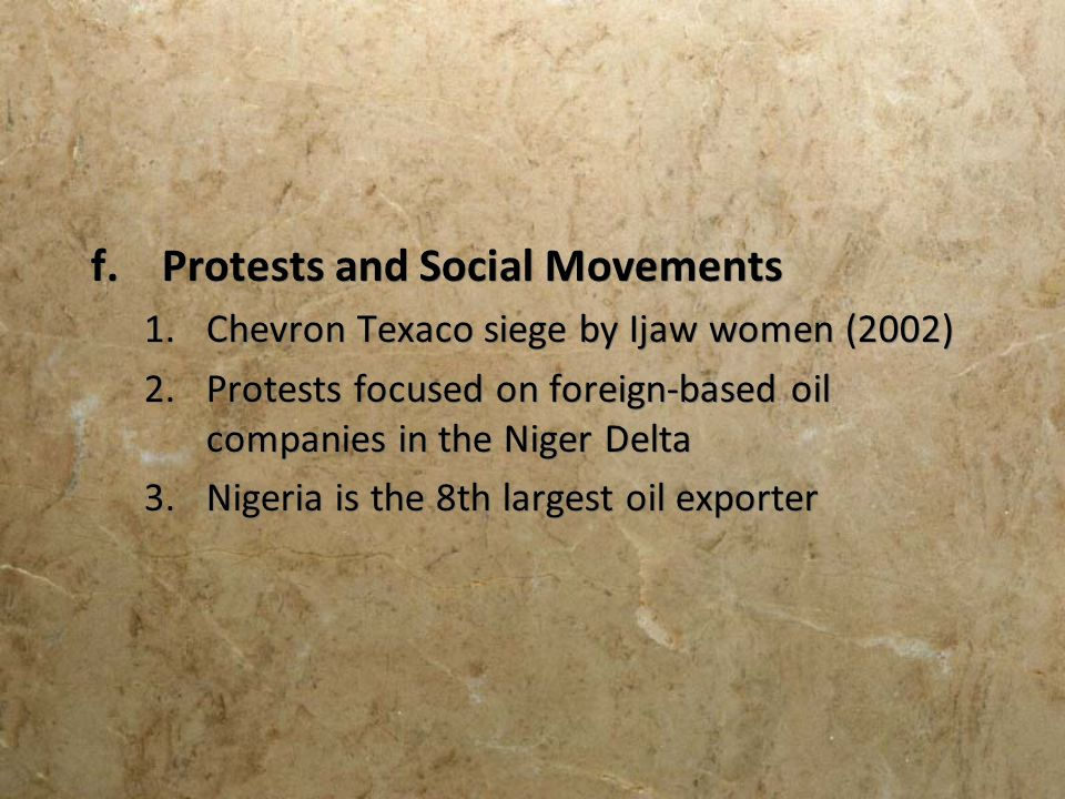 Protests and Social Movements