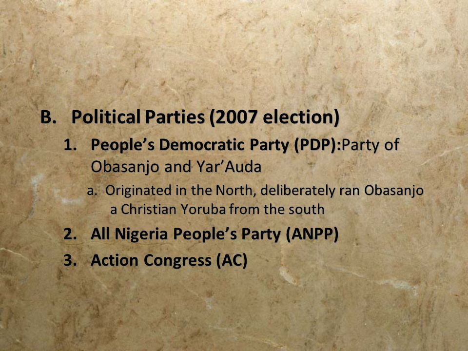 Political Parties (2007 election)