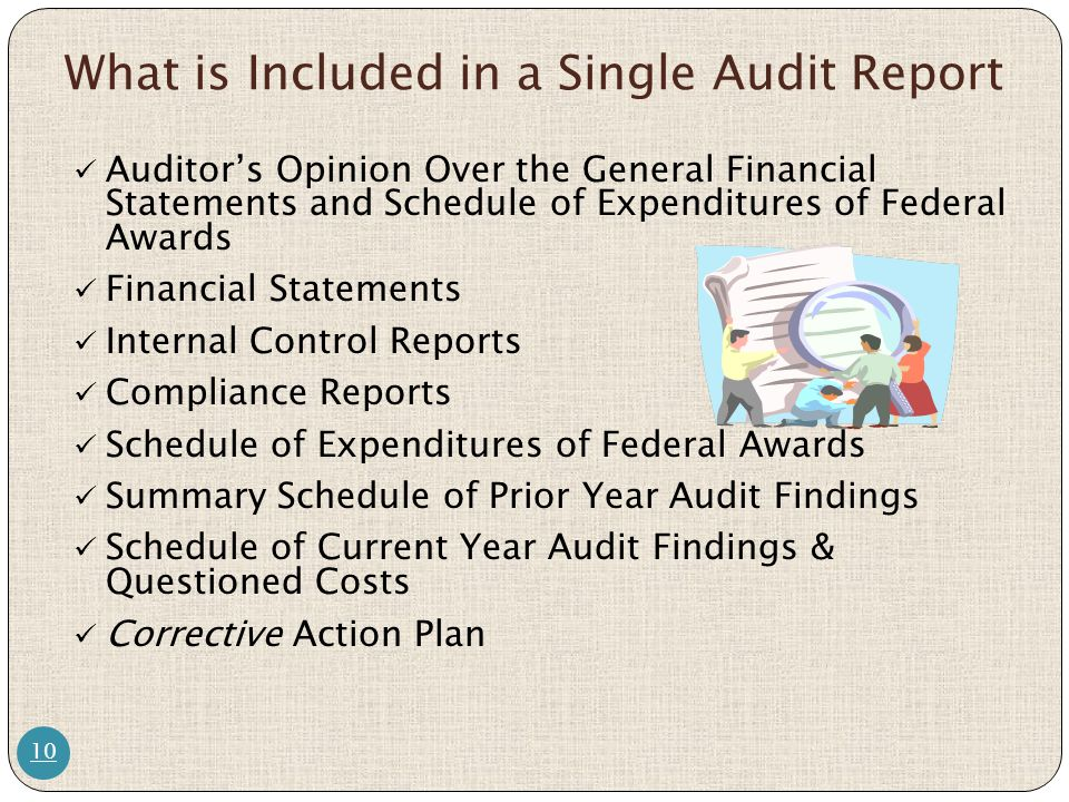 What is Included in a Single Audit Report