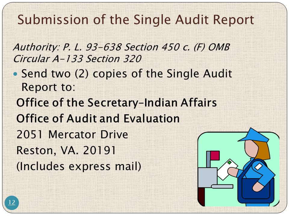 Submission of the Single Audit Report