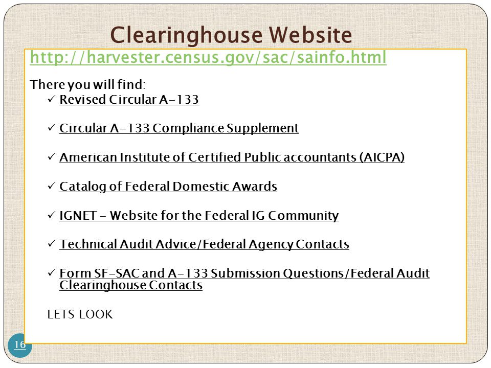 Clearinghouse Website