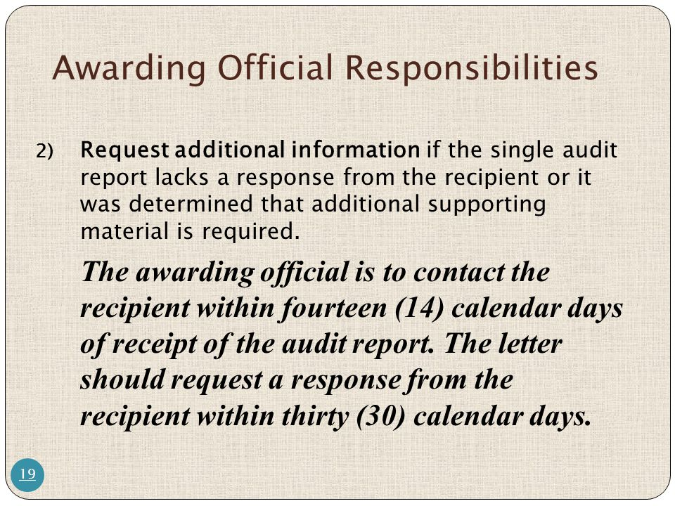 Awarding Official Responsibilities