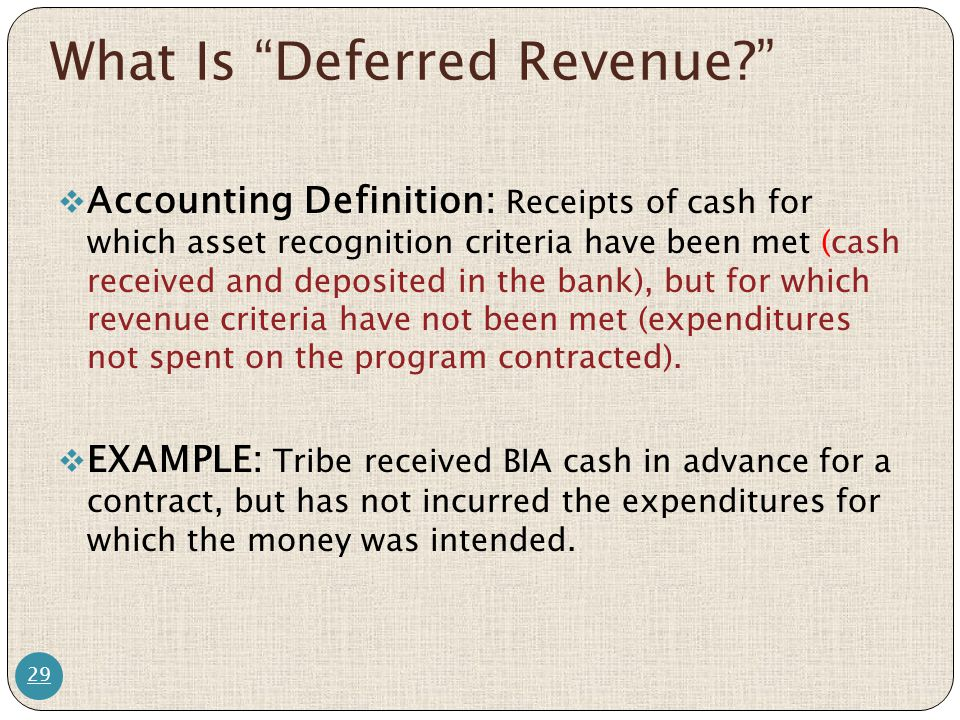 What Is Deferred Revenue