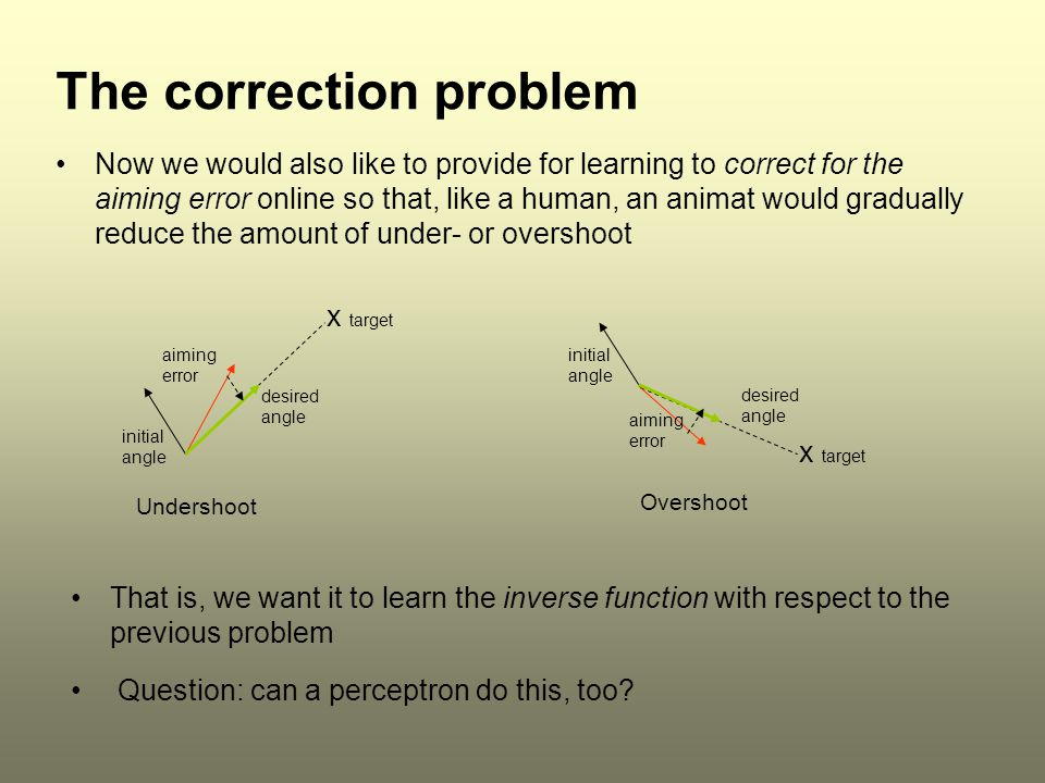 The correction problem