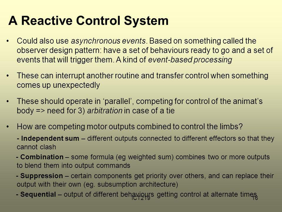 A Reactive Control System
