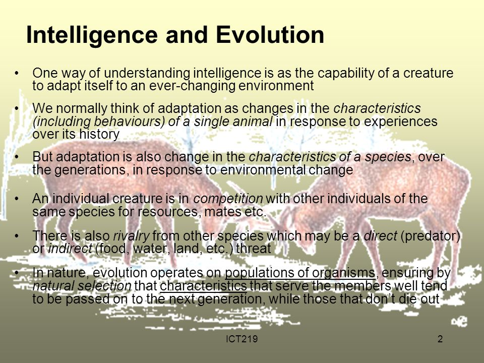 Intelligence and Evolution