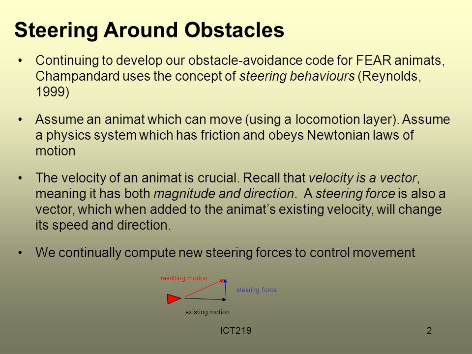 Steering Around Obstacles