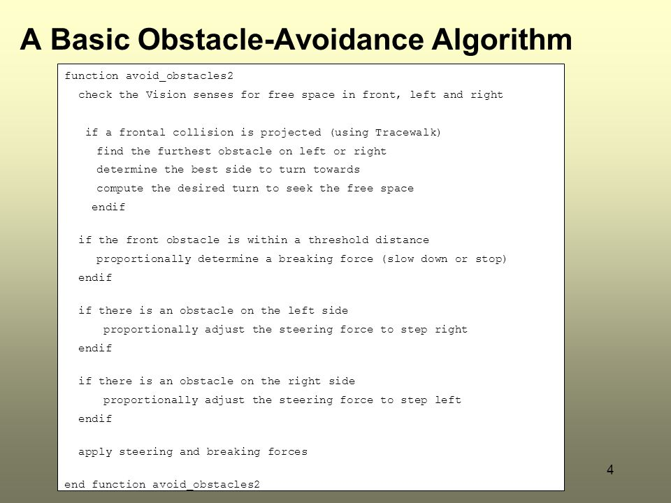 A Basic Obstacle-Avoidance Algorithm