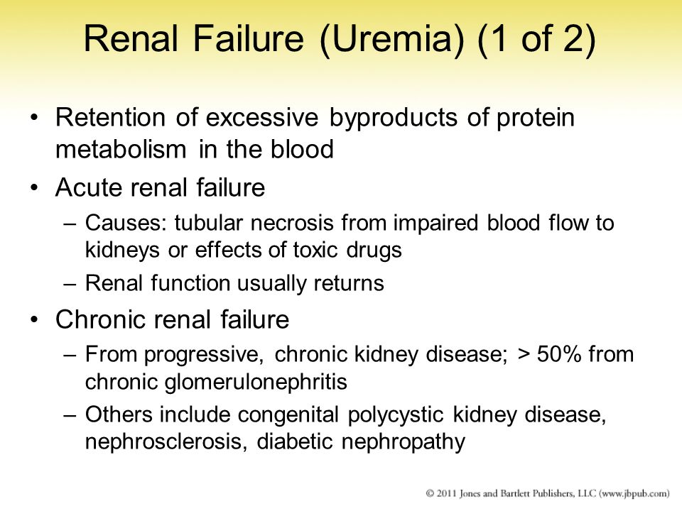 Renal Failure (Uremia) (1 of 2)
