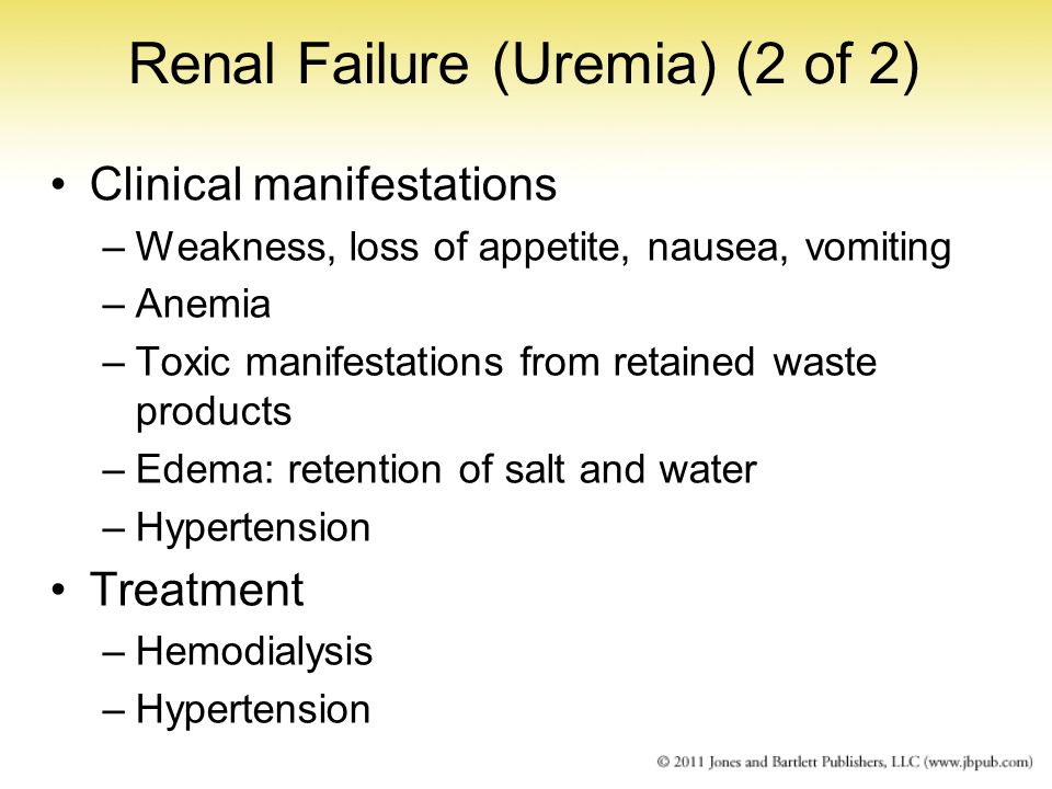 Renal Failure (Uremia) (2 of 2)
