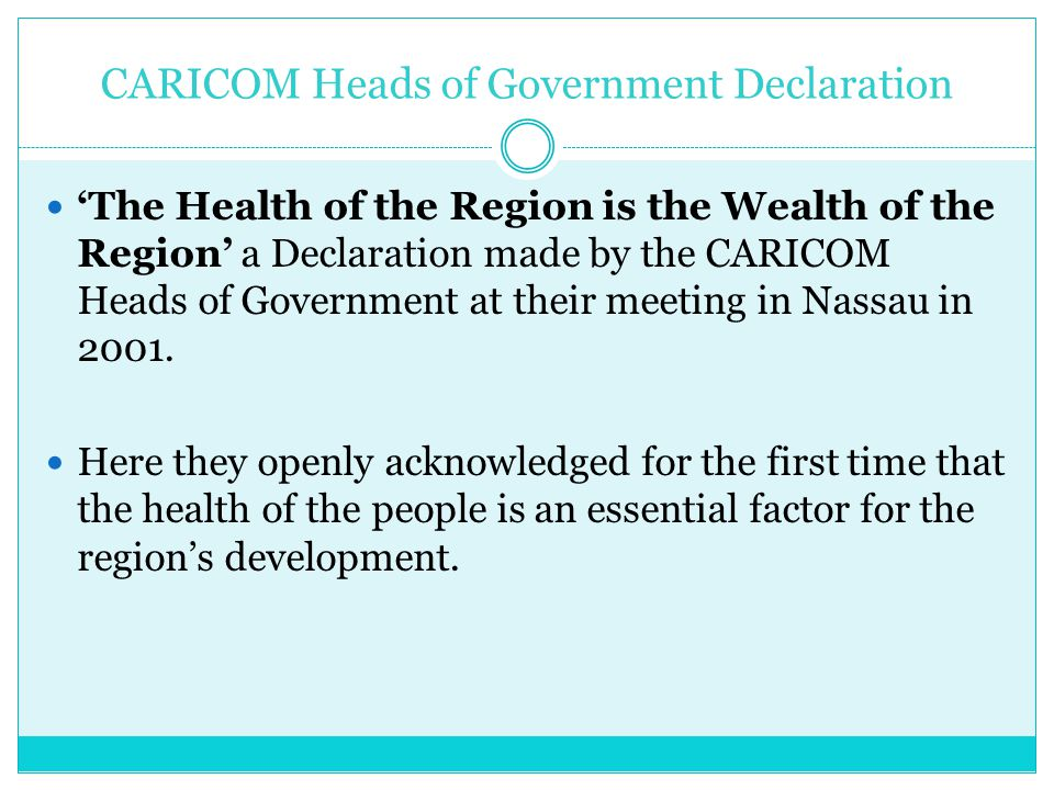 CARICOM Heads of Government Declaration