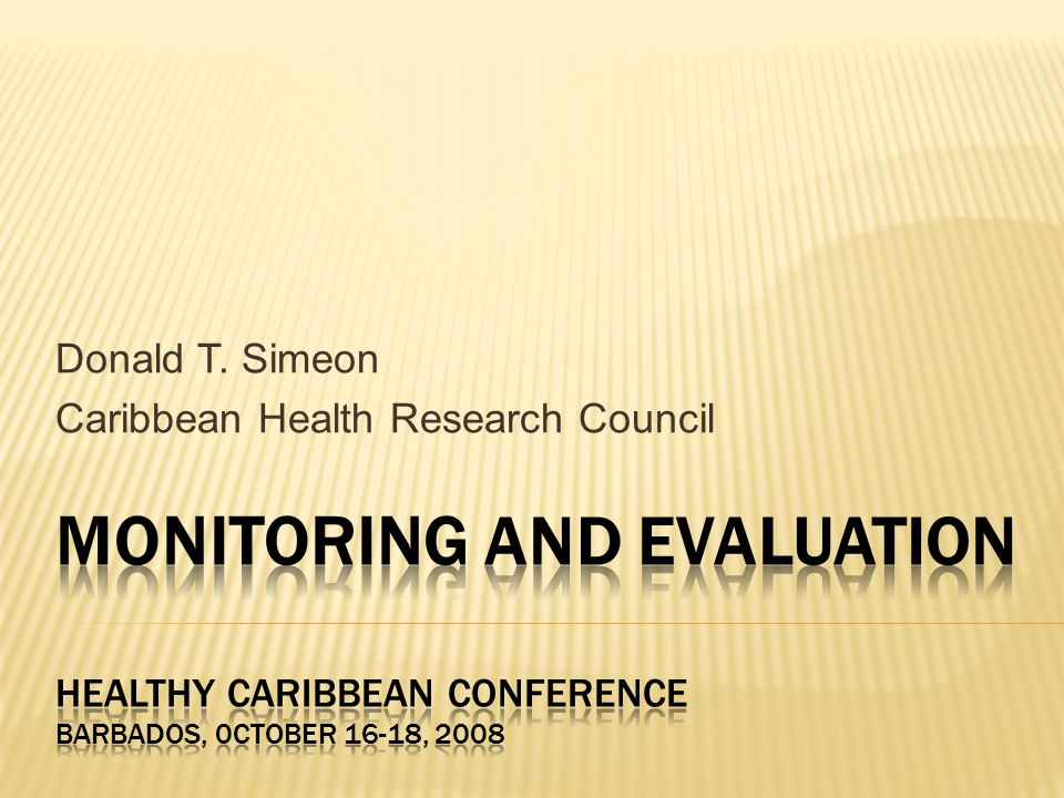 Donald T. Simeon Caribbean Health Research Council