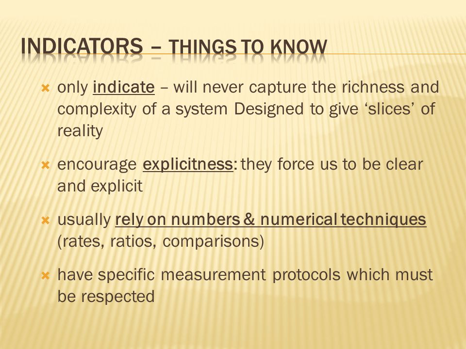 Indicators – things to know