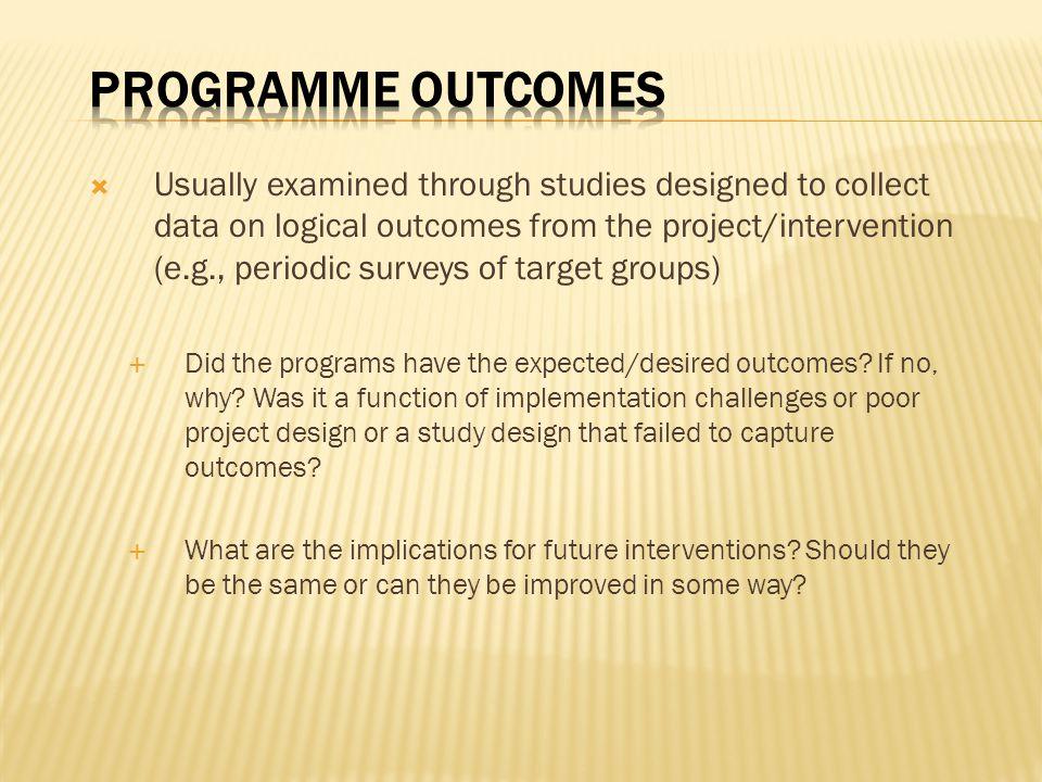 Programme Outcomes