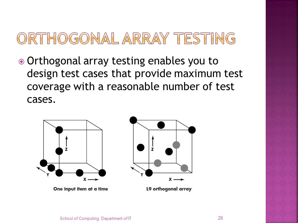 ORTHOGONAL ARRAY TESTING