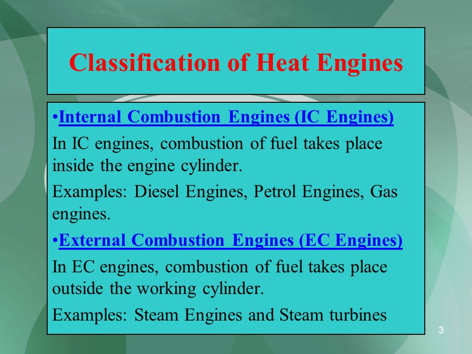 Classification of Heat Engines