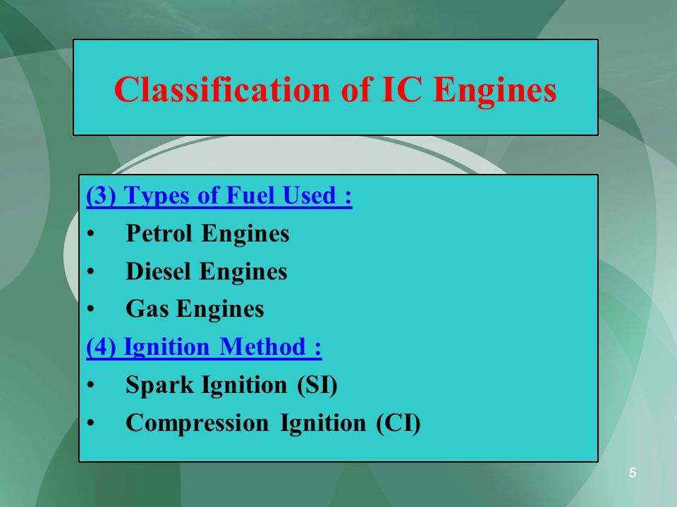 Classification of IC Engines